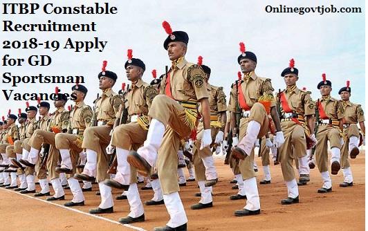 ITBP constable recruitment 2018