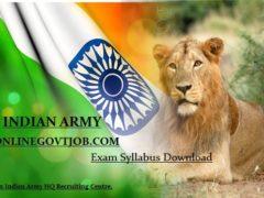 JAK RIF Regt Jabalpur Army Bharti