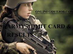 Jabalpur Army Bharti Admit Card