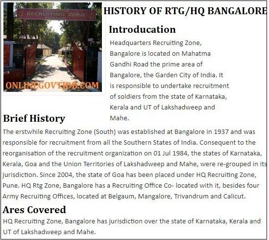 Hq Bangalore army centre history