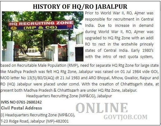 Jabalpur Army centre history