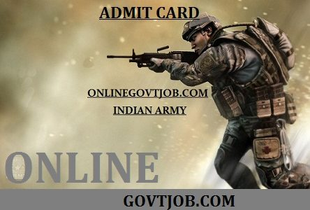 TA Army Admit Card 2019-20 Download Territorial Army Bharti